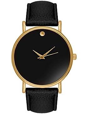 Armbanduhr Damenuhr Damenuhren Bloggeruhr Trenduhr Edelstahl Uhr Uhren Günstig Quarzuhr Designer Farbe: Schwarz...