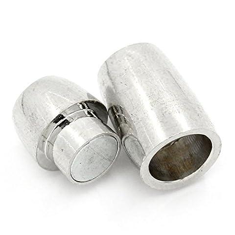 5 Sets Silberfarbe Magnetverschluss Verschluesse 20x9mm