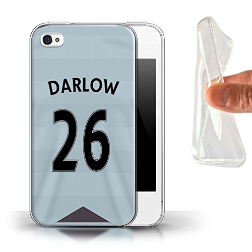 Offiziell Newcastle United FC Hülle / Gel TPU Case für Apple iPhone 4/4S / Pack 29pcs Muster / NUFC Trikot Away 15/16 Kollektion Darlow