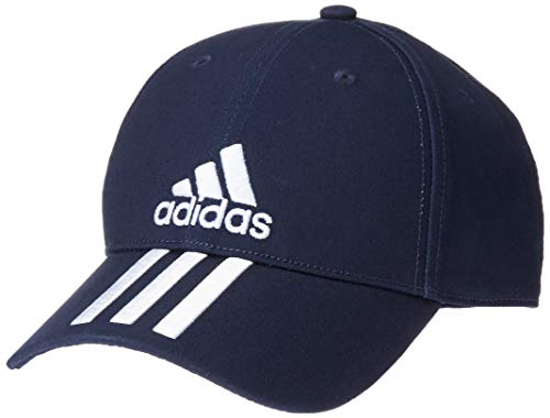 adidas Erwachsene 6P 3S Cotton Cap, Legend Ink/White, OSFM