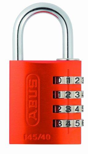 Abus 145/40 NARANJA B - Candado aluminio combinacion 40mm 4 dígitos naranja blister