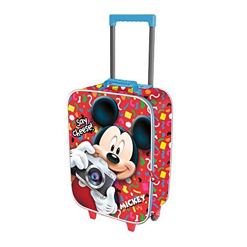 Karactermania Mickey Mouse Say Cheese-maleta Trolley Soft 3d Valigia per bambini 52 centimeters 23 Multicolore (Multicolor)