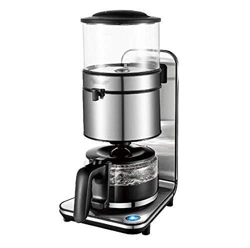 Kaffeemaschine,Elektronische Temperaturregelung Silber Edelstahl Kaffeemaschine,köstlich