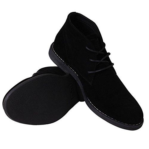 Soviet Herren Wüstenstiefel Freizeit Schnürschuhe Desert Boots Schuhe Stiefel Schwarz