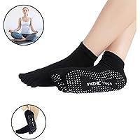 Pilates/Yoga/de artes marciales/fitness, gimnasia/danza calcetines, suelo calcetines, calcetines Yoga-calcetines antideslizantes de goma suelas de transpirabilidad antideslizante Calcetines de cinco dedos calcetines de algodón función (1 par) Yoga Negro negro