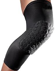 Bodhi2000®, ginocchiera antiurto per pallacanestro, ginocchiere protettiva a compressione, Black
