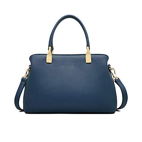 Kieuyhqk Damen Pendler Einkaufstasche Casual einfache Schulter Crossbody Handtasche Frauen Casual Handtasche Schulter-Handtasche (Farbe : Blau)