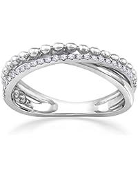 Malabar Gold And Diamonds 18KT White Gold And Diamond Ring For Women - B07B55X65K