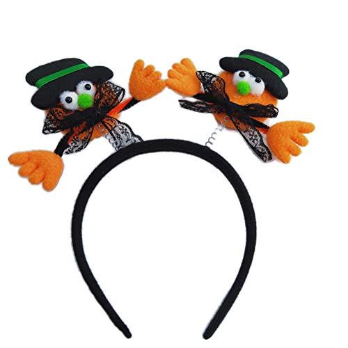 Amosfun Halloween-Kürbis-Stirnband, leuchtende Haarreifen, Halloween-Kostüm, Party, 2 Stück (Halloween-kürbisse Zu Ziehen)