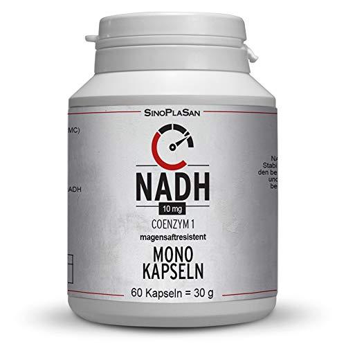 NADH (Panmol®) MONO Kapseln, Coenzym 1, 60 Kapseln, 20mg pro Tagesdosis, mikroverkapselt und stabilisiert im patentierten Panmol® Verfahren