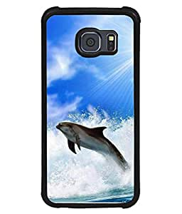 PrintVisa Designer Back Case Cover for Samsung Galaxy S6 Edge+ Plus (fish enjoying sea water waves)
