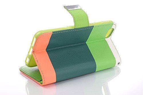 iPhone 7 Cover, elecfan ® Leichtgewicht Book Stil Flip PU Leder Hülle Tasche Wasserdicht Case Smart Cover mit Ständer / Kartenfächer Anti Kratzer Schutzhülle für iPhone 7 A05