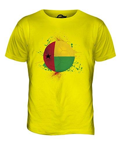 CandyMix Guinea-Bissau Fußball Herren T Shirt Zitronengelb