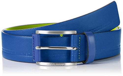 BOSS Green Herren Gürtel Tymos Blau (open Blue 493)