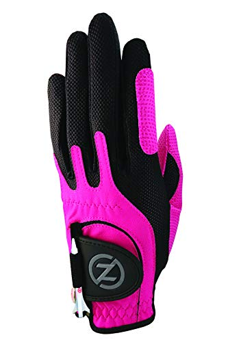 Zero Friction Null Reibung Junior Compression-fit Synthetik Golf Handschuhe, Universal Fit One Size, Jungen, Rose, Einheitsgröße (Reibung Golf-tees)