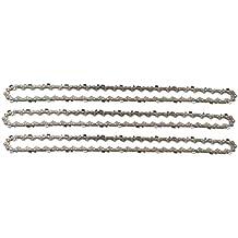 """3 tallox cadenas de sierra 3/8"""" 1,3 mm 52 eslabones 35 cm compatible con Oregon Bosch Dollmar Hitachi Echo Einhell Makita Husqvarna y otras"""