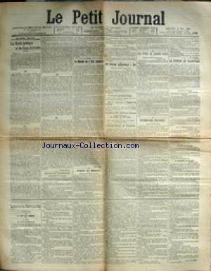 PETIT JOURNAL (LE) [No 13648] du 09/05/1900 - LA GUERRE AU TRANSVAAL - LA SANTE PUBLIQUE ET LES EAUX MINERALES - ARMEE ET MARINE - L'INSTITUT PASTEUR DE TANANARIVE - LES FETES DE JEANNE D'ARC
