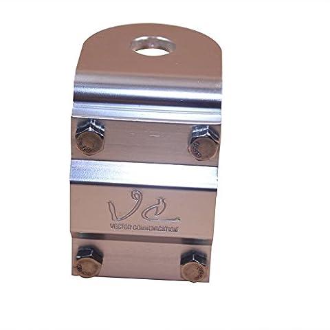 Spiegel-Halterung, 3Wege Aluminium mit Bolzen für CB- / Amateurfunk-Antenne Halterung–TS03