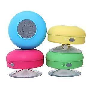 AquaAudio ultraportabler, wasserdichter, kabelloser Bluetooth Mini-Stereo-Lautsprecher mit Saugnapf für Dusche, Badezimmer, Pool, Boot, Auto, Strand, Outdoor etc. | Für alle Geräte mit Bluetooth-Funktionalität + Siri kompatibel - 6 Stunden Spielzeit / mit eingebautem Mikrofon zur Verwendung als leistungsstarke Freisprecheinrichtung (Rosa)