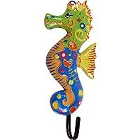 Guru-Shop Colourful Wooden Coat Hook, Wall Hook, Coat Hook - Elefant 1, 15x15x2 cm, Clothes Hooks for Children