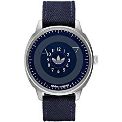 Adidas ADH3131 SAN FRANSICO Uhr Herrenuhr Lederarmband Edelstahl 10 bar Analog blau