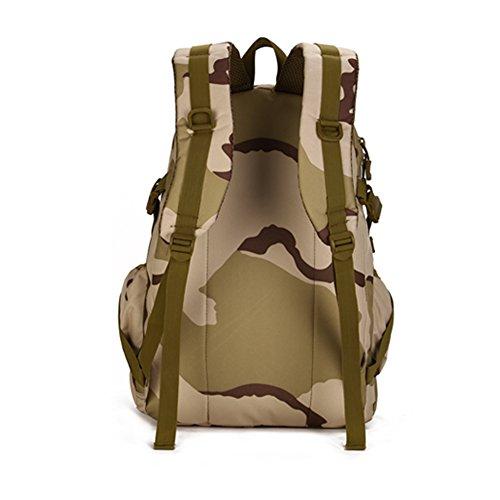 YAAGLE Klassisch einfach Gepäck outdoor militärisch Bergsteigen Taschen Freizeit multifunktional Rucksack Studenten Schultasche Tarnung 2