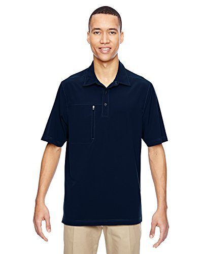 North End 85120 Herren Ausflug Crosscheck Performance Woven Polo NAVY 007