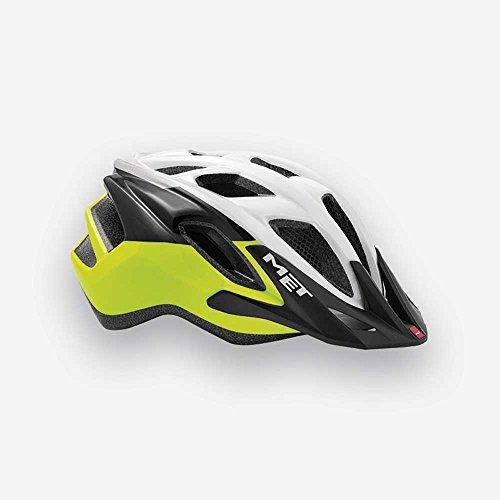 MET Fahrradhelm m3hm102ungi3, M, weiß–gelb, Unisex