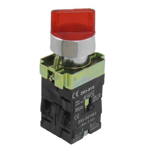 sourcingmap 1 NO 1 NC AC 400V rote Lampe 2 Postion drehbare Wahlschalter 600V 10A ZB2-BK246