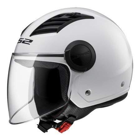 LS2 305625002XL Casco da moto, Bianco lucido, XL