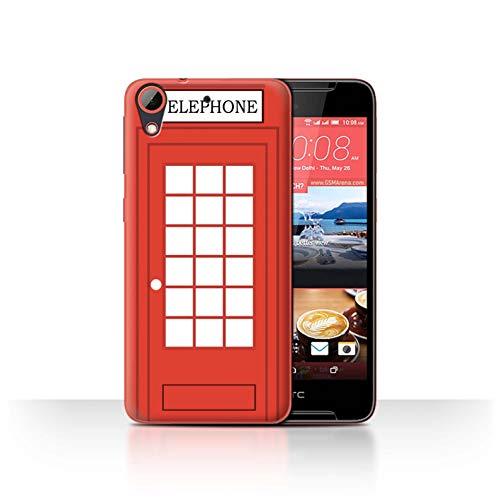eSwish Hülle/Case für HTC Desire 628 / Klassische Rote Telefonzelle Muster/London Stadt Großbritannien Kollektion