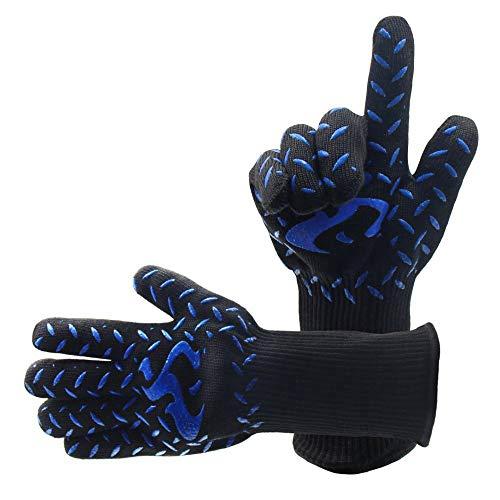Ltd Maskerade Kostüm - QIMANZI Heiß BBQ Grillen Handschuhe Kochen Extrem Hitze Beständig Ofen Schweißhandschuhe(B1)