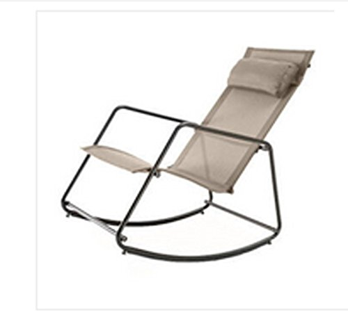 Mode Freizeit Schaukelstühle Klappstühle Balkon Lunch Chair Lounge Stuhl Beige