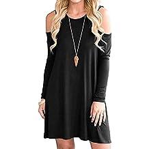 Camicia Vestiti Eleganti Moda Donna Primaverile da Unico Abito Camicia  Manica Lunga Rotondo Collo Senza Spalline 01efa7135a5