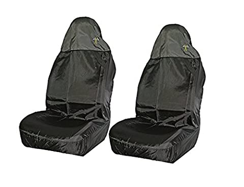 XtremeAuto® Universal Waterproof Black High Back, Front Car Seat Protector