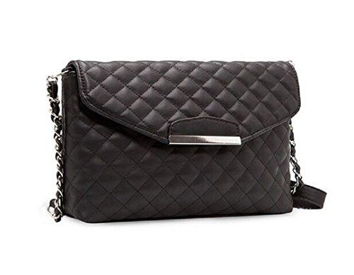 von Umhängetasche Ularmo abziehbar Einstellbar Schwarz Damen Leder PU Handtasche Einfach Handbag 84pTpnO