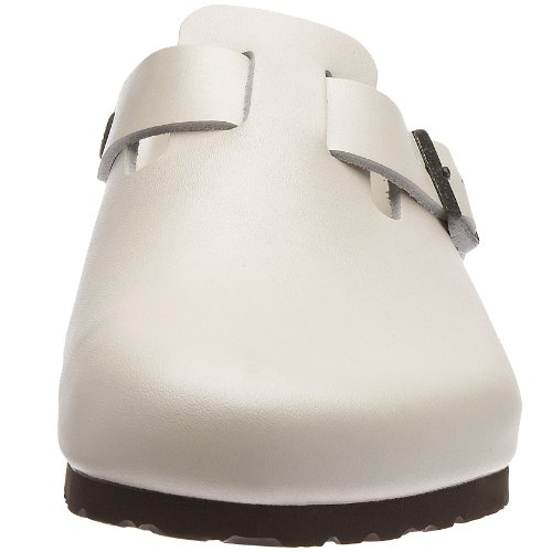 Birkenstock Boston - Sabot unisex - adulto Bianco (Perlmutt)