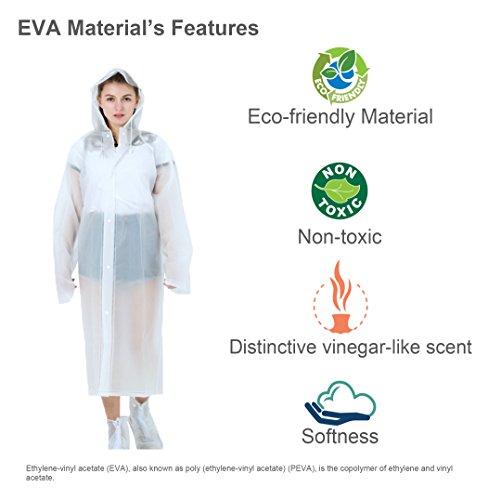 ColorRain Umwelt-freundliche EVA Frauen Mode Lässige Regenmantel - 2