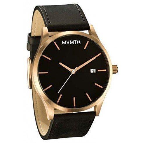 MVMT Quarzuhr Rose Gold/Brown Leather MM01-RGBL