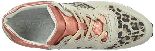 Geox Damen D Shahira A Sneakers Mehrfarbig (LT TAUPE/CORALCH67G)