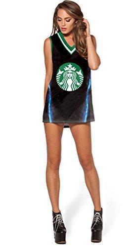 THENICE Damen T-Shirt Mehrfarbig ON.1 Medium Coffee