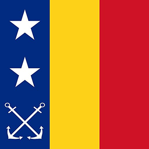 magFlags Flagge: XL Romanian Vice Admiral as Chief of Navy 1939 | Fahne 2.16m² | 150x150cm » Fahne 100% Made in Germany