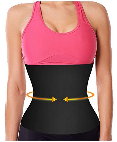 9fbf93fbc4 Gotoly Waist Trainer Corset Sport Workout Body Shaper Tummy Fat Burner  (Black