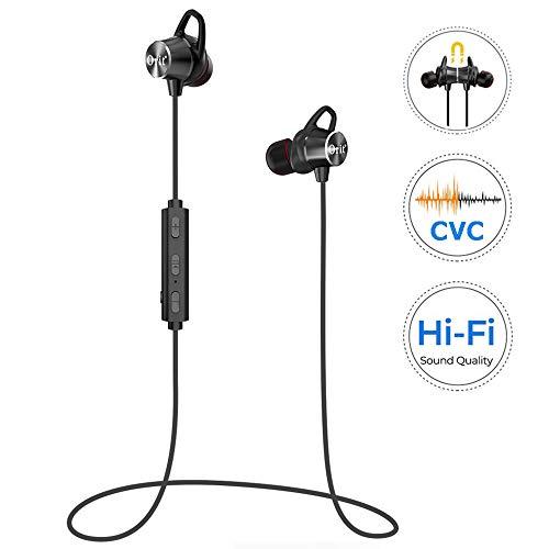 Cuffie Bluetooth Bassi Potenziati, Auricolari Bluetooth da Corsa Audio Stereo Hi-Fi, Impermeabili Cuffie Sport con 8 Ore di Gioco, Auricolari Wireless Magnetici per il Jogging, Corsa, Fitness
