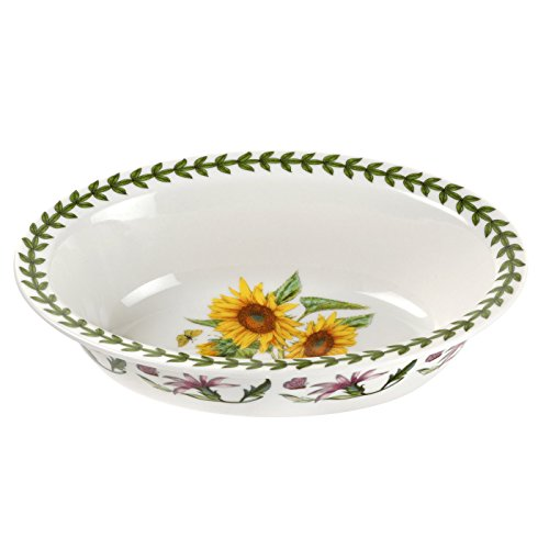 Portmeirion Botanic Garden Sunflower Oval Pie Dish China Pie Dish