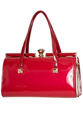 Rosso o Vintage borsa borsa Nero o Vintage Paradiso retro Nero Paradiso Banned Banned Rosso retro 7wZfxgqZ6
