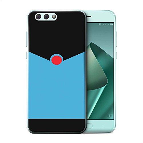 Stuff4® Hülle/Case für Asus Zenfone 4 ZE554KL / Retro Blauer Anzug Muster/Cartoon Superheld Kunst Kollektion (Superhelden Haut Anzug)