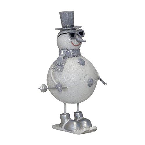 Christmas Paradise - Schneemann aus Metall - Beeindruckende Weihnachtsdeko in 19 cm Größe – Weihnachten Deko Figur Weihnachtsschneemann