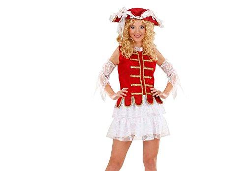 Kostüm 3 Disney Musketiere - Widmann 89653 Erwachsenenkostüm Musketeer Girl, 42