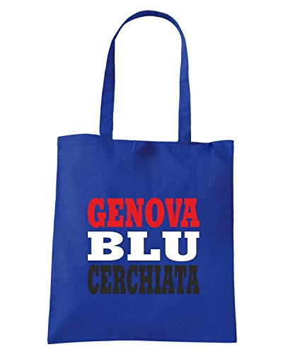 T-Shirtshock - Borsa Shopping WC1005 SAMPDORIA ITALIA CITTA STEMMA LOGO Blu Royal
